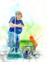 jardinier du parc de sceaux