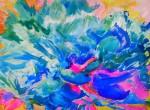 fleur bleue (inachevée) 1m x 70