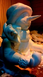 sculpture bonhomme de neige 6m