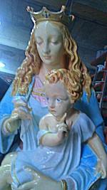 pâtine sur sculpture