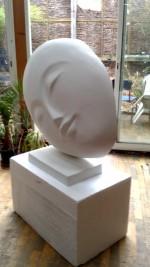 sculpture tête dyptique pour S boutin