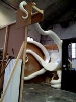 sculpture pieuvre aquarium montpellier avec boubousan /déco-diffusion toulouse