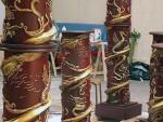 Décor colonnes pour le film kung Fu Panda