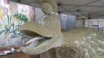 char sculpture astérix